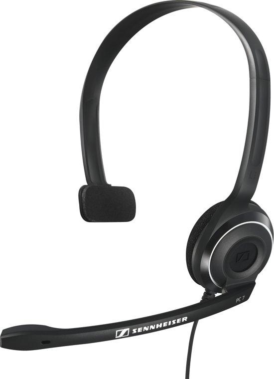sennheiser pc 7 on ear headset zwart. Black Bedroom Furniture Sets. Home Design Ideas