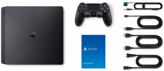 Sony PlayStation 4 Slim Console - 500 GB + Dualshock 4 Controller PS4