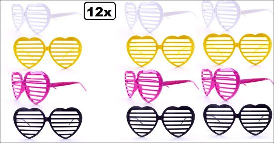 85e5f88540f77e 12x Bril Shutter shade bril assortie kleur
