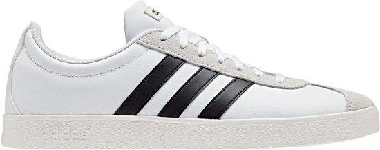 adidas VL Court 2.0 Sneakers Heren Sneakers - Maat 42 2/3 - Mannen -  wit/zwart