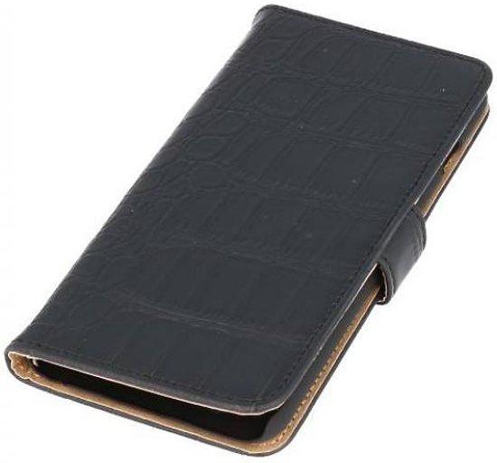 Mobieletelefoonhoesje.nl - Huawei Ascend Y530 Hoesje Krokodil Bookstyle Zwart in Kumtich