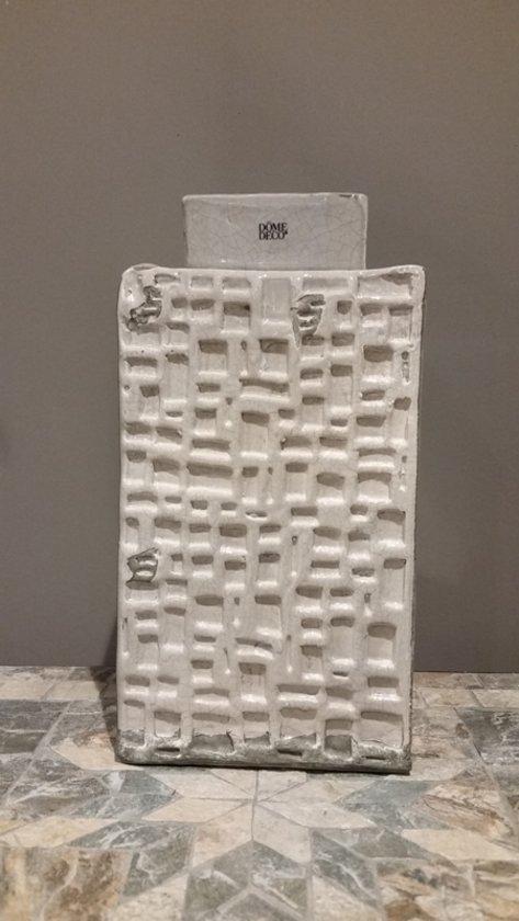 Fles - DomeDeco - Grijs - 29 cm