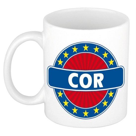 Cor naam koffie mok / beker 300 ml  - namen mokken