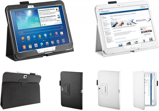 nl p samsung galaxy tab  gt tablet stand case trendy cover praktische hoes zwart merk icover