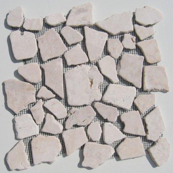 Mozaiek Tegels Tuin.Bol Com Mozaiek Tegels Riverstones Beige Marmer Op Matjes Van