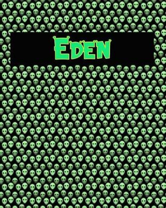 120 Page Handwriting Practice Book with Green Alien Cover Eden