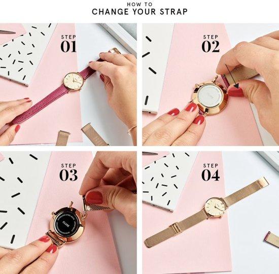 Cluse Minuit Mesh Horloge