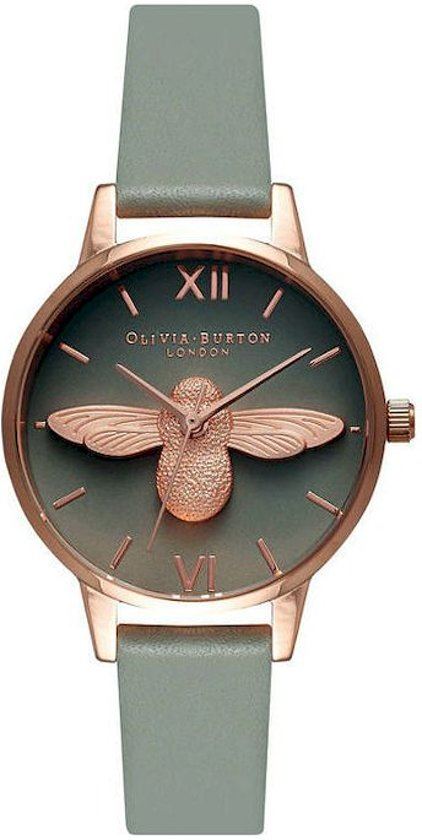 Olivia Burton Animal Midi Moulded 3D Bee Horloge - Grijs