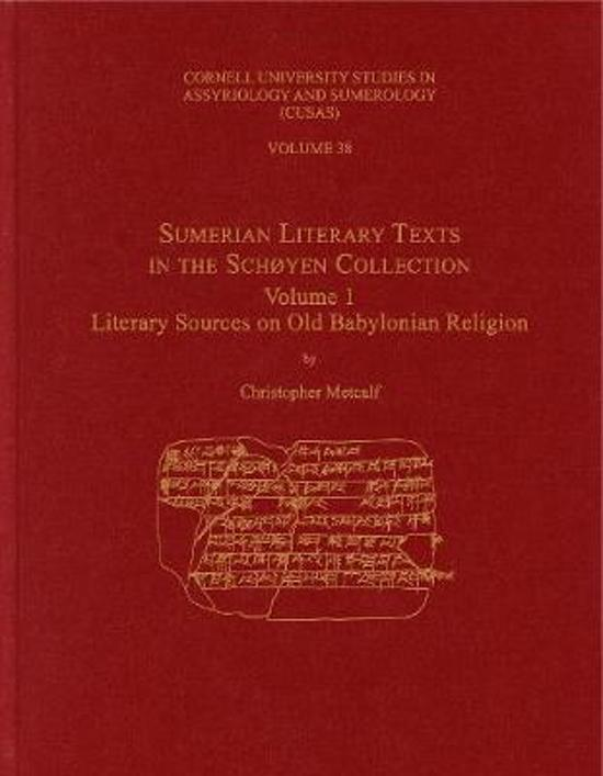 Sumerian Literary Texts in the Schoyen Collection