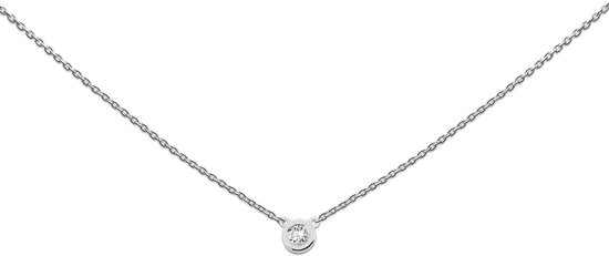 Heart to Get necklace, circle zirkon, silver, Circle of love & happiness