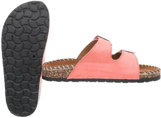 Dames slippers - sandalen maat 37 koraal