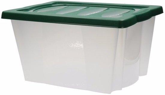 bol | plastic opbergbox met groene deksel