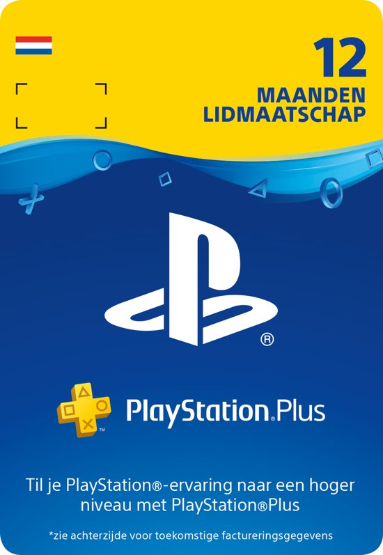 Cover van de game PlayStation Plus 12 maanden - PSN Playstation Network Kaart (NL)