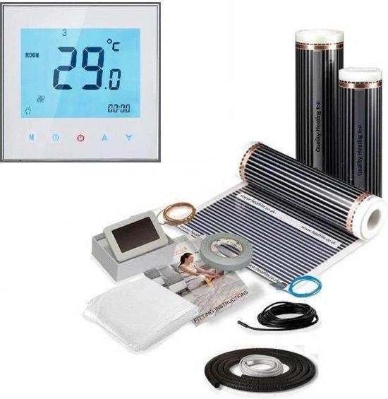 1,0M² 150 Watt Vloerverwarming elektrisch onder laminaat en hout set
