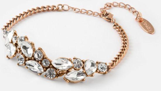 Orelia armband - druppelvormige en ronde stenen - goudkleurig - 16 cm + 3 cm verlengstuk