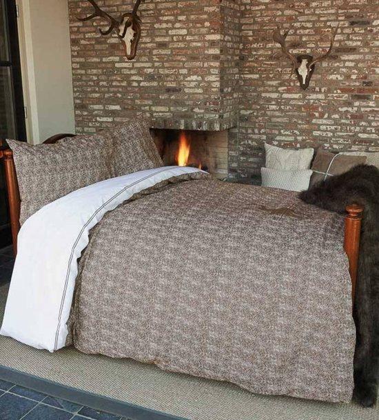 Riviera Maison Hunting Lodge dekbedovertrek   Sand   1 persoons (140×200  220 cm + 1 sloop