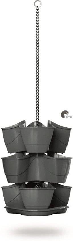 Kruidenpot Coubi 300W 30x30x88cm GRAPHITE Prosperplast