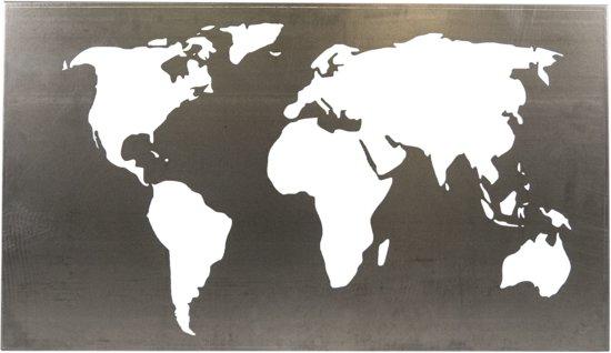 Wanddecoratie Wereldkaart Metaal.Bol Com Wereldkaart Metaal