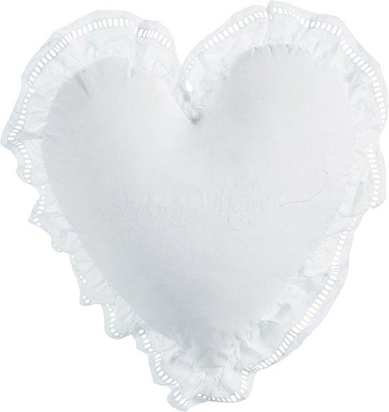 Rivièra Maison  Romance - sierkussen - 40x40 cm - Wit