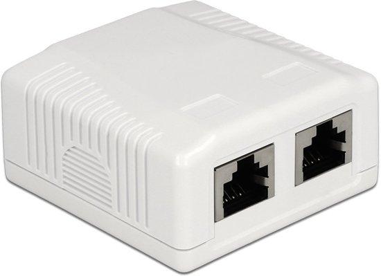 DeLOCK Netwerk uitvoer/montage doos - 2x RJ45 / STP / CAT6a
