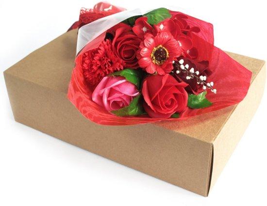 Kunstplanten voor binnen gemaakt van Zeep - Kunstbloemen Boeket - Huis decoratie - Nepbloemen - Moederdag cadeautje - Verjaardagscadeau voor vrouwen - 100% Veganistisch - 100% Dierproefvrij - Paars/Roze