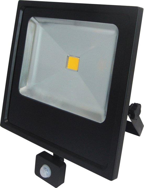 PROFILE LED straler flat - 50W - 2800 lumen - met instelbare bewegingsmelder - IP65 - zwart