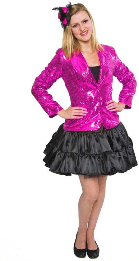 Pailletten jasje roze - Carnavalskleding