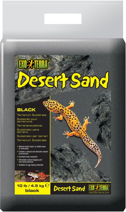 Exo Terra - Woestijnzand - Zwart - 4,5KG