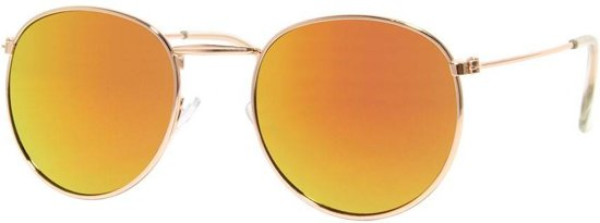Hippe festival ronde zonnebril voor de zomer 100% UV-bescherming NDL1008