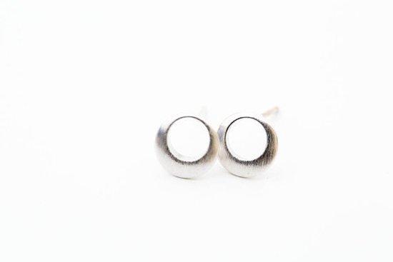 Minimalistische Oorbellen Zilver : Bol jewelry collection maan oorbellen cirkel