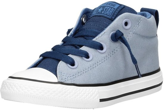 81d4d0ecd05 bol.com | Converse Jongens Sneakers Ctas Street Mid Kids - Blauw ...