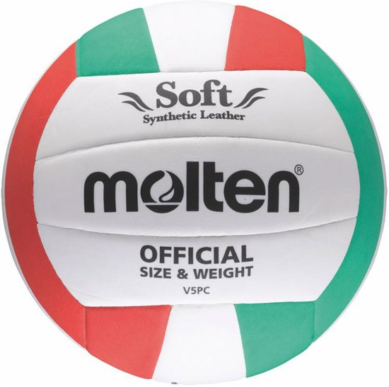 Molten VolleybalKinderen en volwassenen - wit/groen/rood