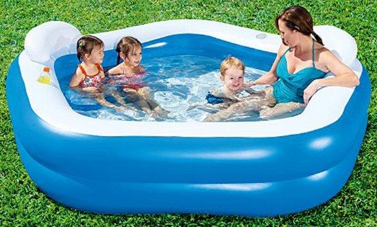2.13m x 2.07m x 69cm Family Fun Pool