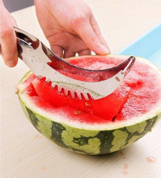 Meloensnijder - fruit - snijden - mes - RVS