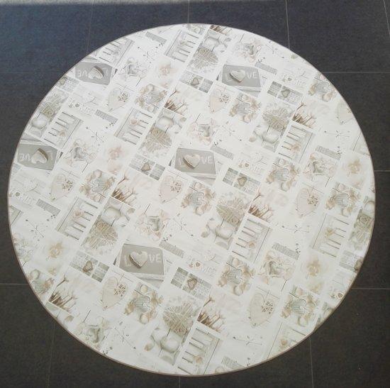 Palace Fashion Tafelzeil - 160 cm rond - Creme/Love