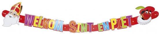 Sinterklaas Slinger 'Welkom Sint en Piet'