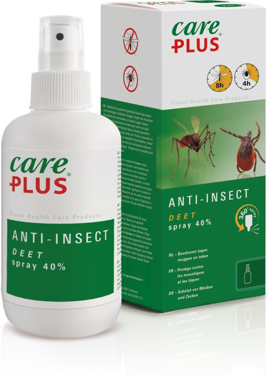 Care Plus Anti Insect Deel Spray Insectenbescherming 40% - 200 ml - 1 stuk