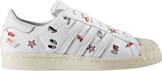 4afd64bc887 adidas Superstar 80s Sneakers - Maat 38 - Vrouwen - wit/zwart/oranje/