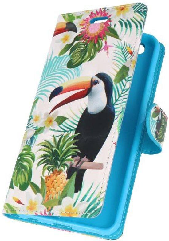Huawei P10 Lite 3D Print Toekan | bookstyle / book case/ wallet case Hoesje  | WN™