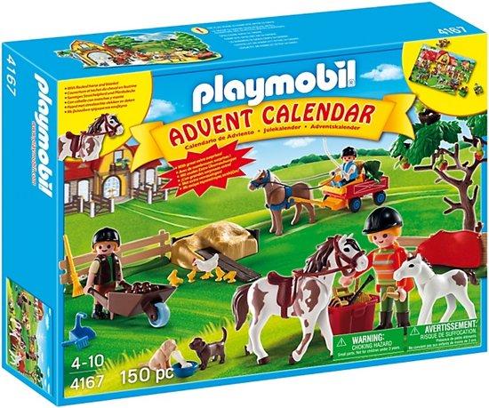 Playmobil Weihnachtskalender.Playmobil Adventskalender Paardenranch Met Extra Verrassingen 4167