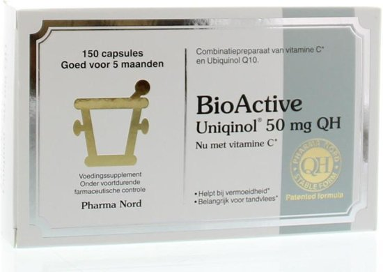 Pharma Nord BioActive Uniqinol Q10 50 mg - 150 Capsules - Voedingssupplement - Voedingssupplement