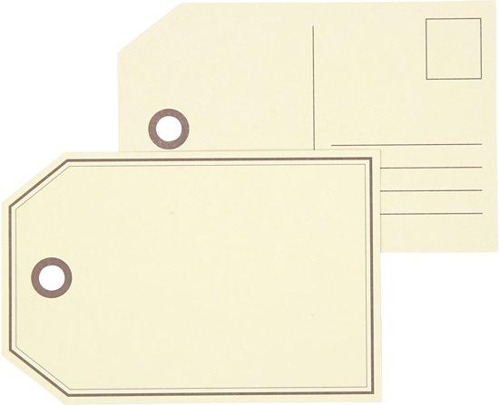 Cadeaulabels, afm 15x10 cm,  300 gr, 10stuks
