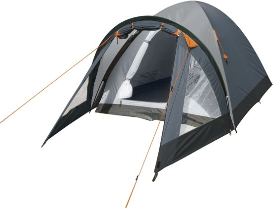 Eurotrail Camp 3 Koepeltent - 2-Persoons - Charcoal Zwart