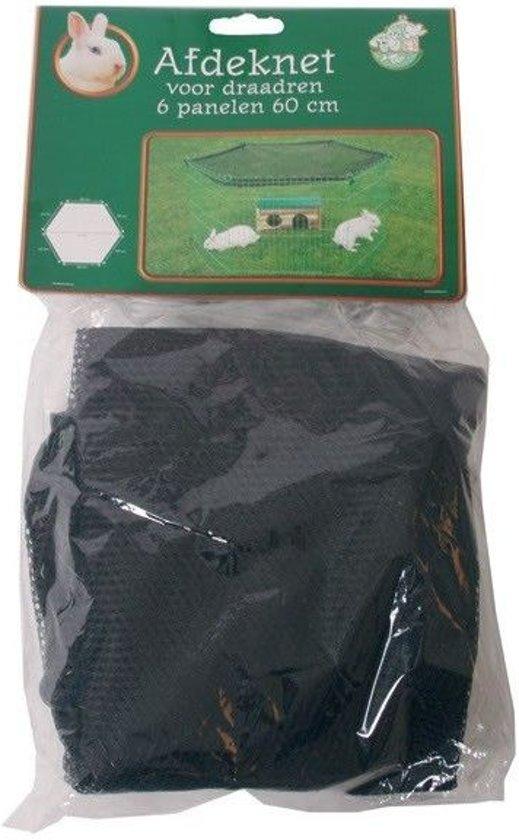 Konijnenren Afdeknet - Zwart - 63 cm