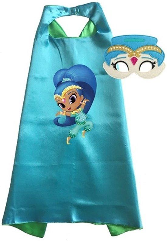 Shimmer & Shine kostuum - cape + masker - Shine - Blauw