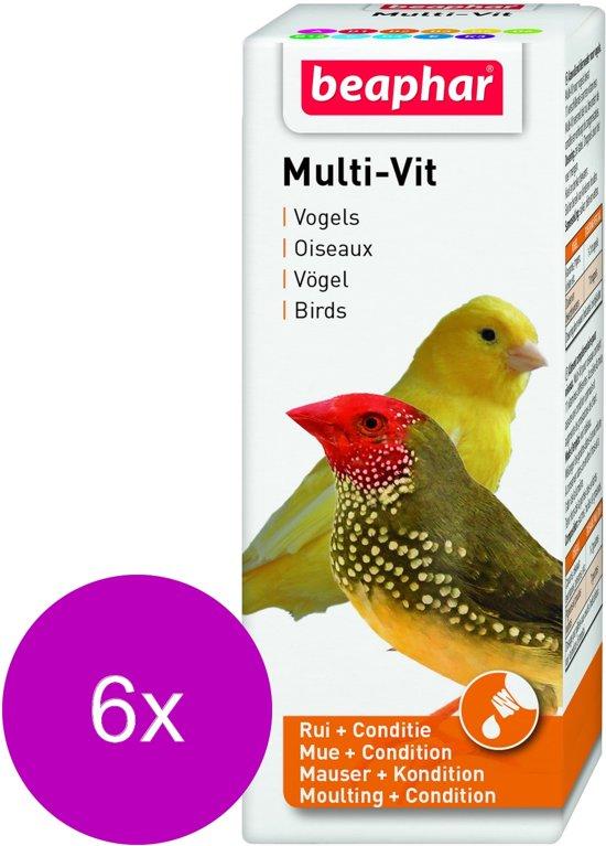 Beaphar Multi-Vitamine Vogels - Vogelapotheek - 6 x 50 ml