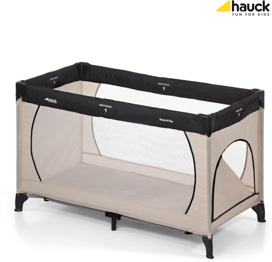 Hauck Dream'n Play Plus - Campingbedje - Beige/Grey