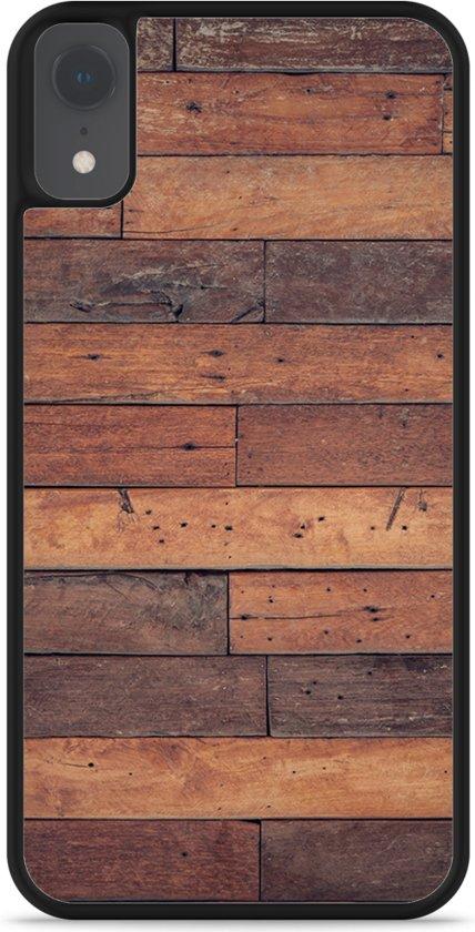 iPhone Xr Hardcase hoesje Houten planken