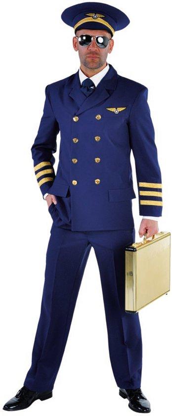 Heren piloten kostuum - Carnaval verkleedkleding mannen maat XS (46)