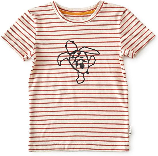 t-shirt korte mouw jongens - brick stripe